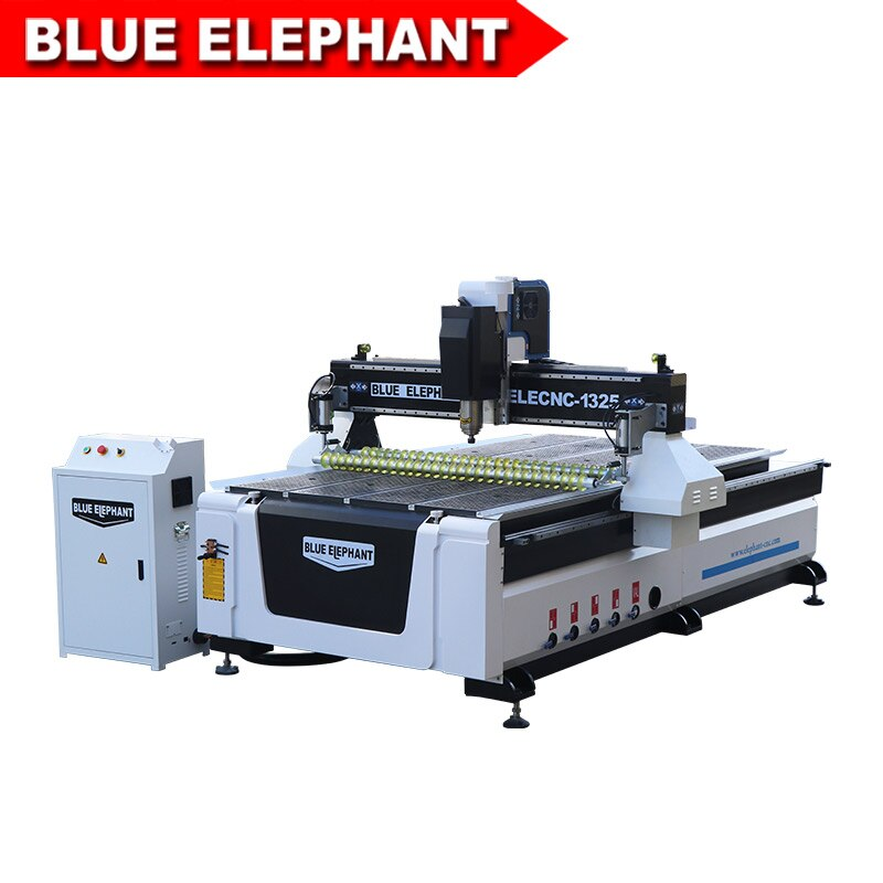 1325 CNC maquina enrutadora gran oferta precio bajo Cortadora De Madera con rodillo de prensa para madera sólida MDF aluminio PVC tallado en plástico
