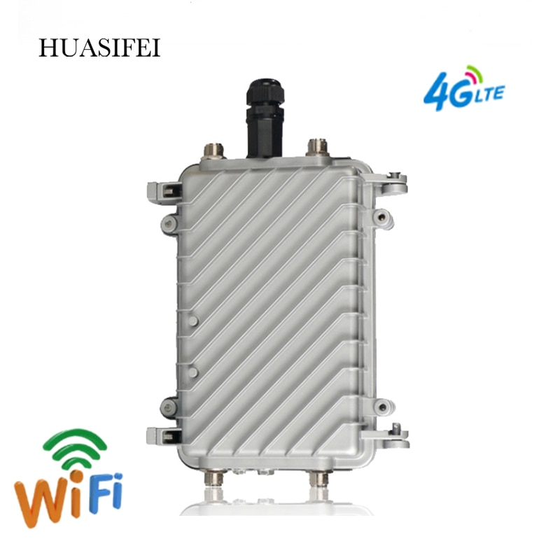 300Mbps outdoor router 4G SIM card portable wireless router high speed outdoor 4G LTE wireless AP Wifi router POE wifi 2 * 18dBi