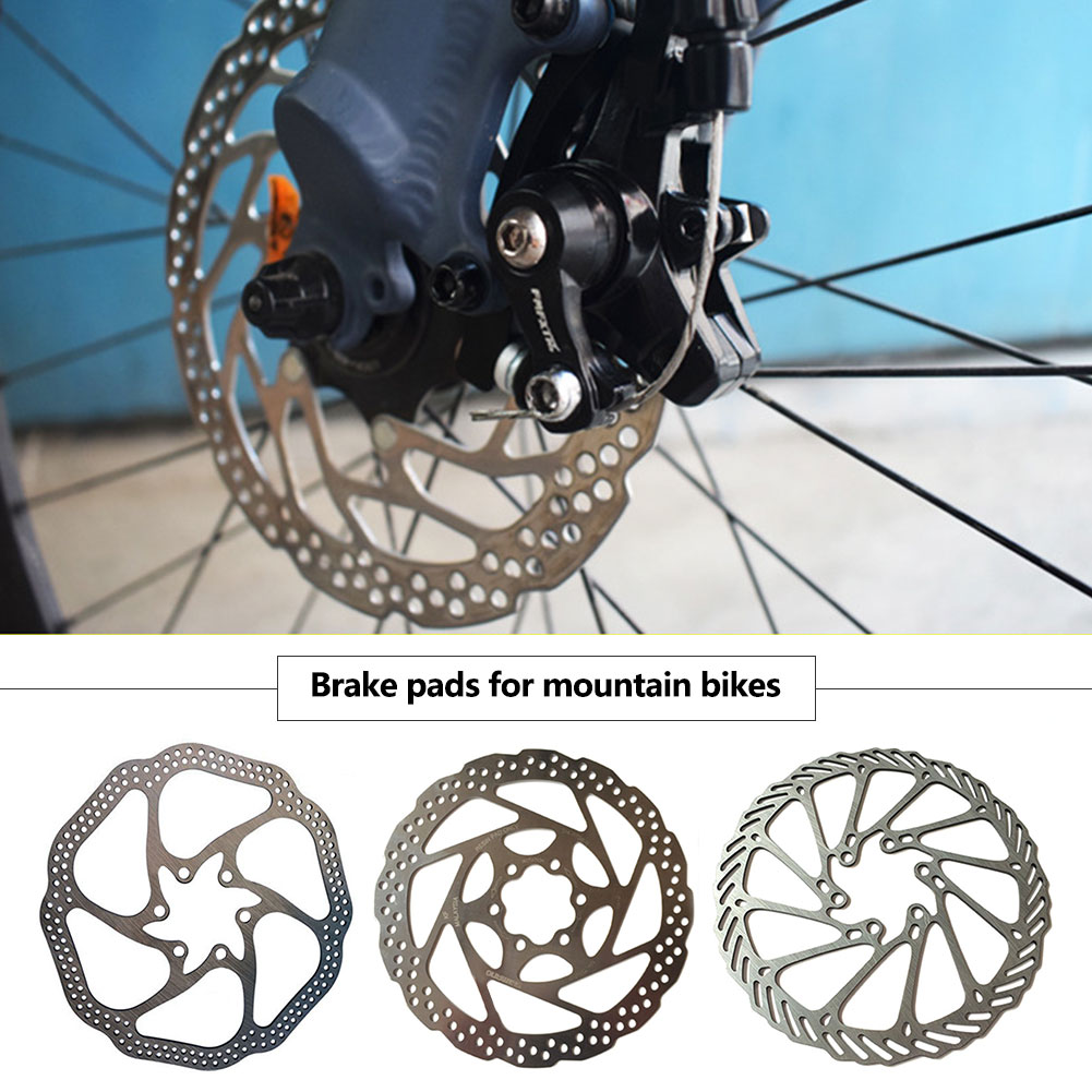 Gran oferta accesorios para bicicletas Rotor de freno de disco de bicicleta de 160 mm con 6 pernos rotores de bicicleta de acero inoxidable apto para bicicleta de carretera MTB BMX