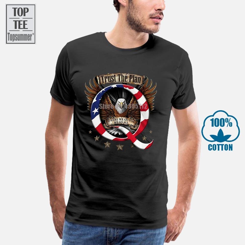 Qanon Q camiseta Trump Wwg1Wga Trust The Plan, talla mediana Q camiseta