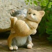 Meilleure Collection de Figurines de chat chaton mignon  Mini ornements de paysage  decoration de bureau de jardin  de maison