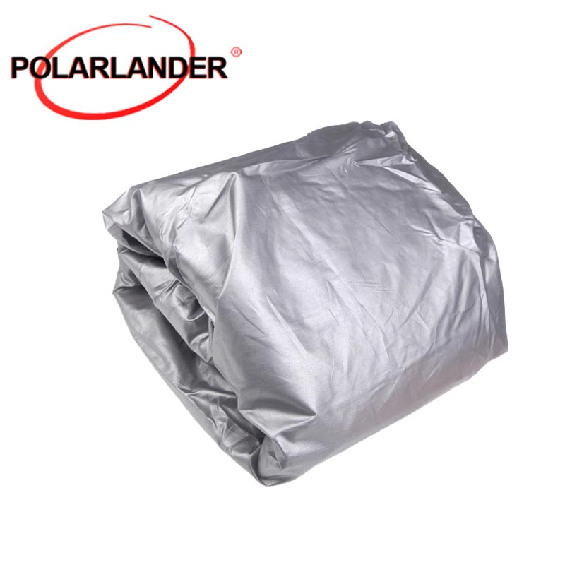 100% Brand New Car Cover Sunscreen Dust-proof UV-resistant Heat-insulated Scratch-resistant Suitable for Indoor Use Silver Grey
