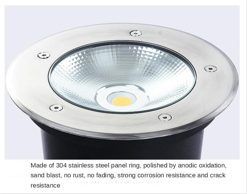Underground Garden Light Outdoor Recessed Led Spotlight Ip65 Decking Lights Floor Lamp Recessed Led Spotlight Outside Terrace enlarge