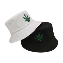 Seau à feuilles pour hommes et femmes   Chapeaux de pêcheur Hip-Hop, chapeaux de mode, broderie coton extérieur décontracté Swag Bob visière