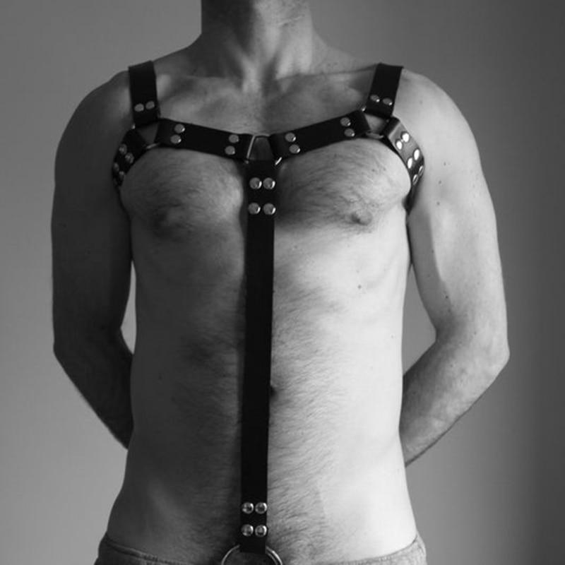 Arnés de cuero para hombres, fetiche Gay Bdsm Bondage, cinturón para Hombre con correas, cinturón para muscular Bulldog, Cosplay Sexy, ropa para discoteca elegante