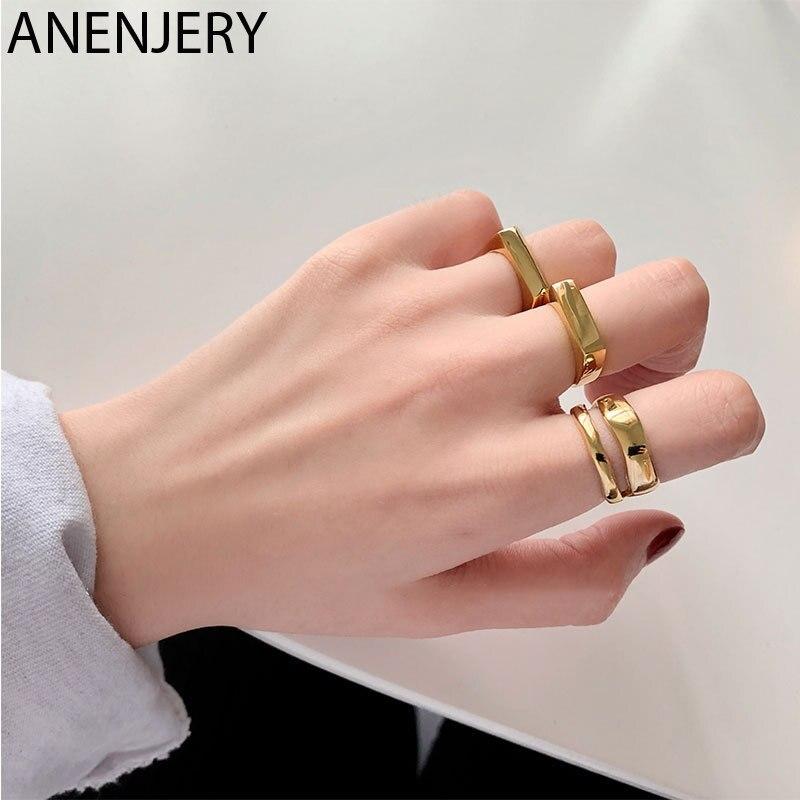 goldria-925-пробы-Серебряное-прямоугольное-глянцевое-Открытое-кольцо-для-женщин-минималистичное-Золотое-кольцо-оптовая-продажа