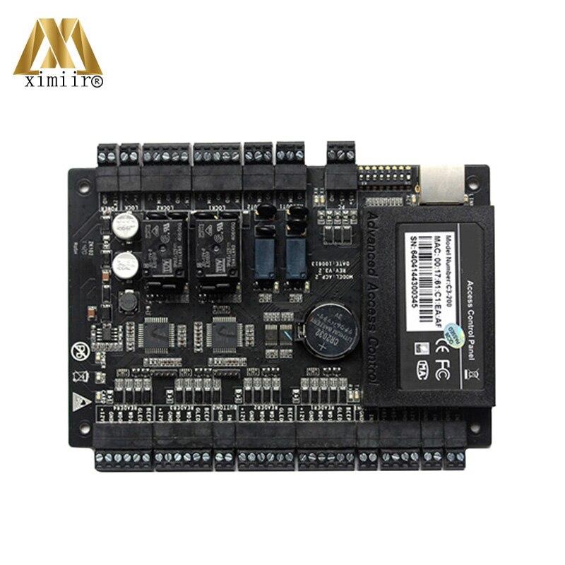 ZK C3-200 لوحة تحكم الوصول متكاملة مع جهاز إنذار حرائق CCTV تكوين لوحة التحكم في الوصول في اتجاهين الباب