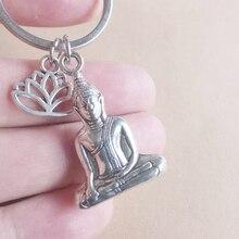 Porte-clés bouddha, porte-clés fleur de Lotus, porte-clés bouddhisme, porte-clés llavero chaveiro sleutelcintre llaveros para mujer porte clef