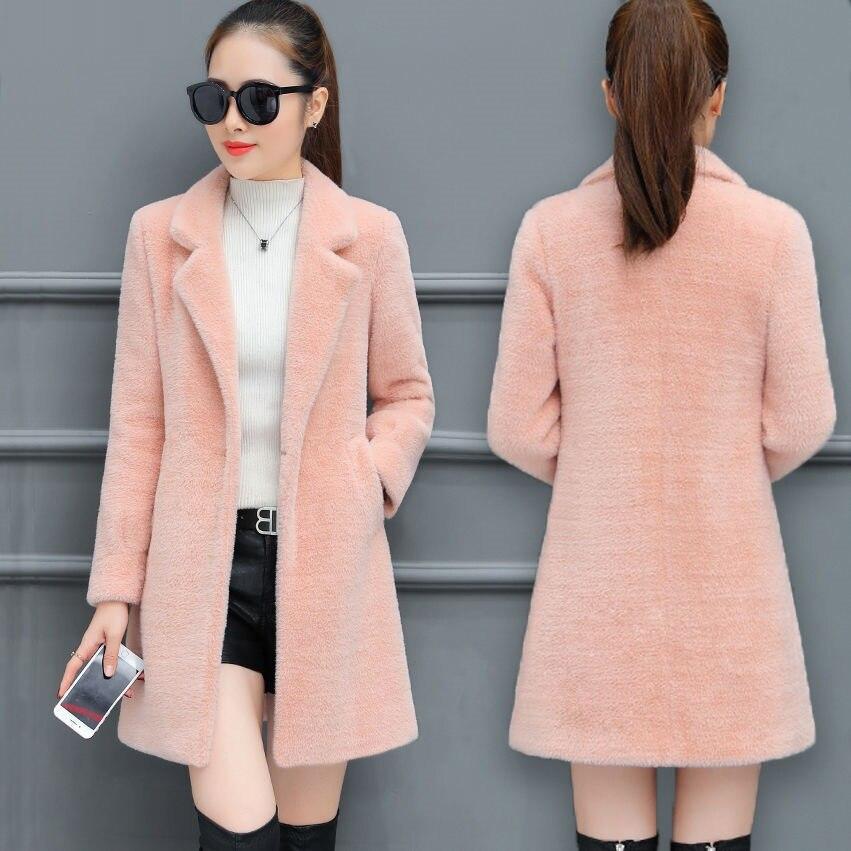 Manteau chaud et mi-long en laine pour femme, élégant et populaire, automne-hiver, nouveau tempérament coréen, vêtements dextérieur, 2021