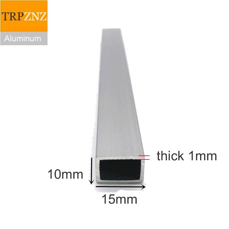 10x15 مللي متر ، سميكة 1 مللي متر ، مستطيلة الألومنيوم أنبوب الشخصي ، 6063 الألومنيوم أنبوب مربع ، الألومنيوم الشخصي للزينة