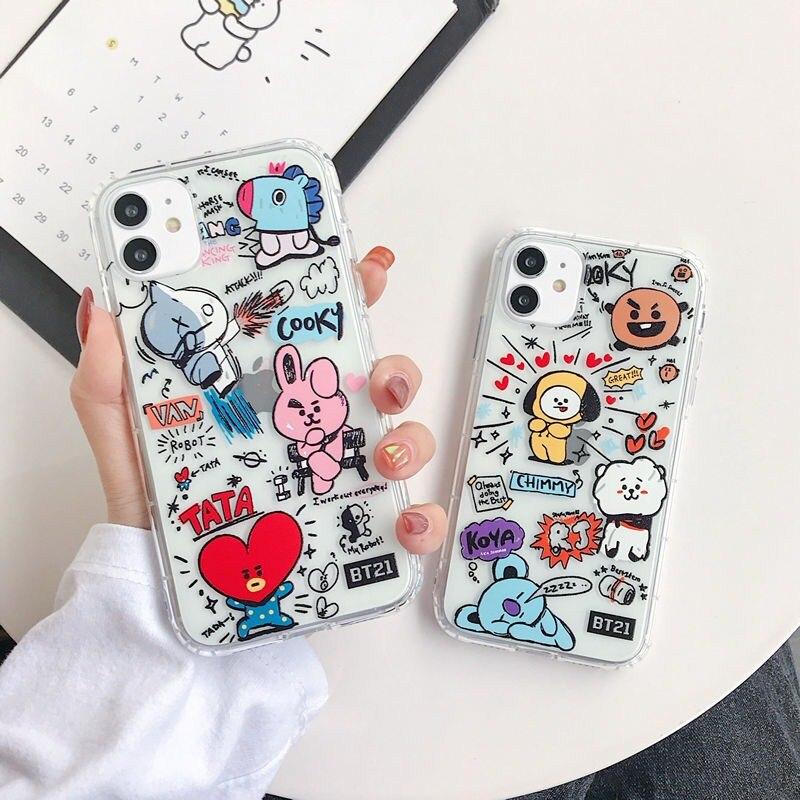 Lindo BT21 suave color de silicona teléfono caso para Huawei P20 P30 P30PRO MATE20 MATE30PRO Nova3 3i 4E 5PRO cubierta