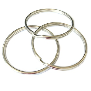 Pareto Wholesale Hot Sale 50mm 304 Stainless Steel Split Key Rings Keyrings for Key Chain Keychain Accessories DIY SS2350 150pcs