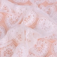 1 25 meters milk silk diy handmade lace love lace full width fabric embroidery