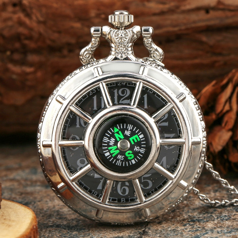 Bronze Vintage Quartz Pocket Watch Chain Necklace Pendant Clock Gift Fashion 40CM Fob Chain Smooth steel Quartz Pocket Watch fob chain pendant antique style yellow gold glossy smooth case steampunk gift fashion full hunter quartz pocket watch men women