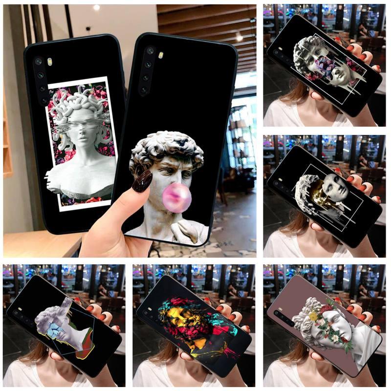 Statue de luxe Art abstrait David Medusa, étui de téléphone pour OPPO Realme 6 Pro XT Realme C3 5 Pro C2 RENO2-Z A11X