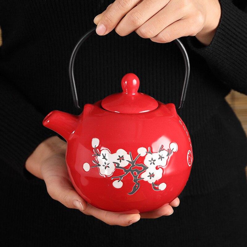 Чайный набор со снежинками керамический чайник японский чайный кунг фу