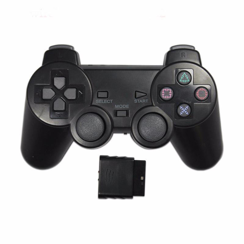 Eastvita console de cor transparente, console de vibração para sony ps2 wireless, gamepad bluetooth 2.4g, controle de vibração para playstation 2