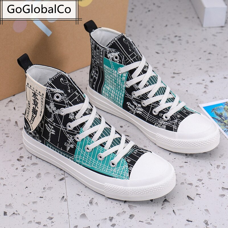 2021 Women Shoes Men Original Breathable Oxford Fabric Vulcanized Sneakers Lovers Lace-Up High-Top Casual Canvas Zapato Unisex