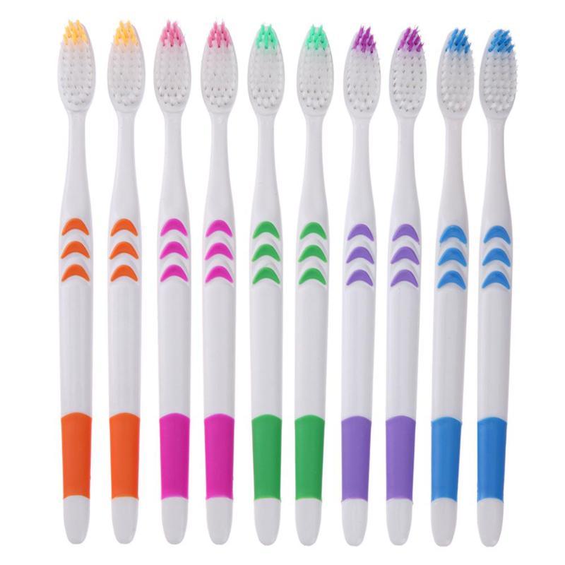 Cepillo de dientes doble ultrasuave, de carbón de bambú, cepillos de dientes Nano, cepillos de dientes de cuidado Personal, venta al por mayor 10 Uds.