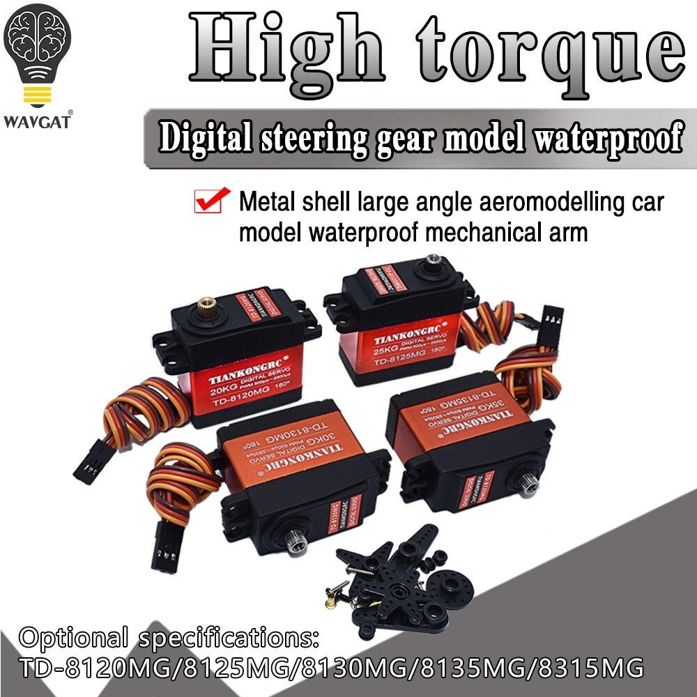 Servo numérique de vitesse en métal imperméable de TD-8120MG TD-8125MG avec 20 25 30KG couple 180Angle pour le véhicule modèle de voiture de télécommande de RC