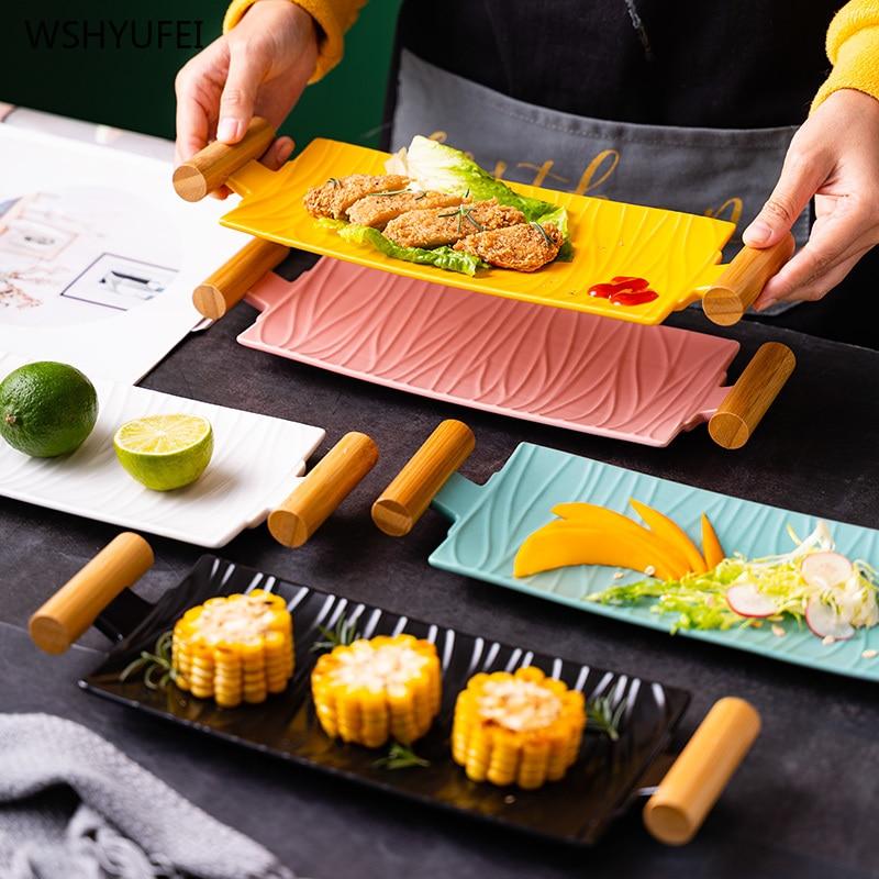 1 قطعة بلون طبق فاكهة الصحن الحلوى لوحة أدوات المائدة السوشي الشواء طبق الزفاف الديكور لوحة لوازم المطبخ