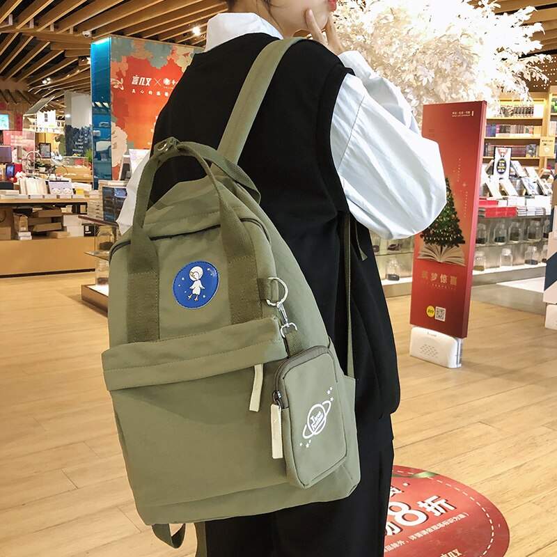 Mochila escolar Simple para niña 2020 y mochila de poliéster de 30cm de altura 38cm de grosor 15cm de ancho