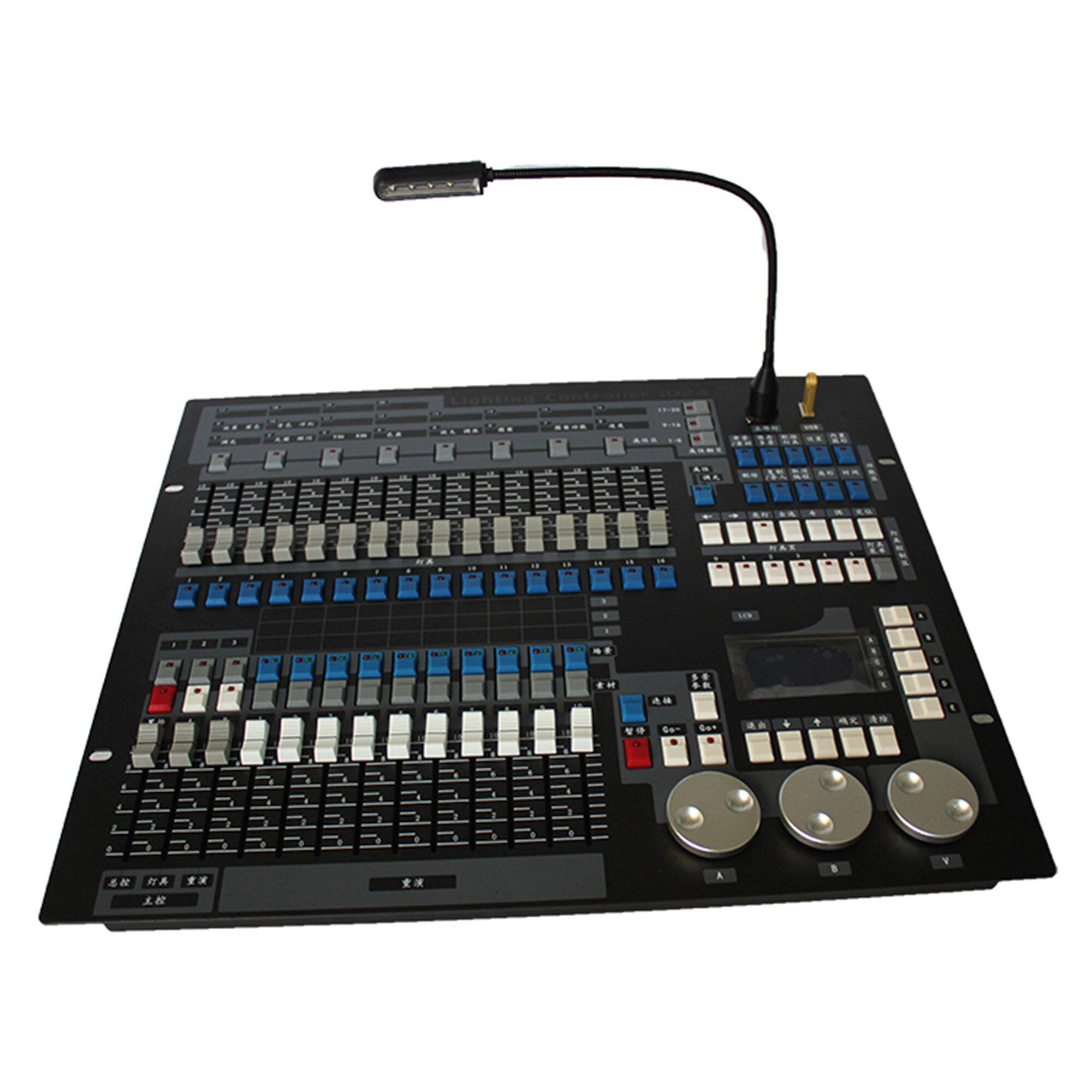 1x DMX 1024 controlador de luz de escenario 1024 haz de consola...