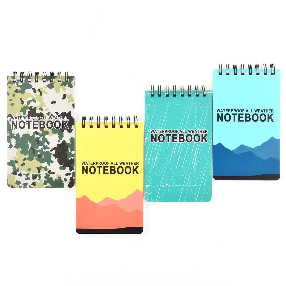 Wasserdicht Spirale Notebook Alle Wetter Papier Outdoor Regen Notizblock 126x76mm Neue Notebook Für Büro Schule Studenten Liefert