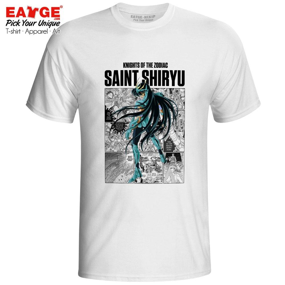 Camisa do dragão t camisa saint seiya anime cavaleiros do zodíaco novidade engraçado camiseta impressão original design casual unissex t