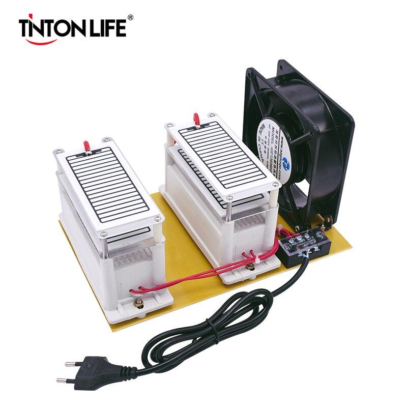220В/110В 20 Гц/ч генератор озона двойная интегрированная длинная керамическая пластина озонатор очиститель воздуха