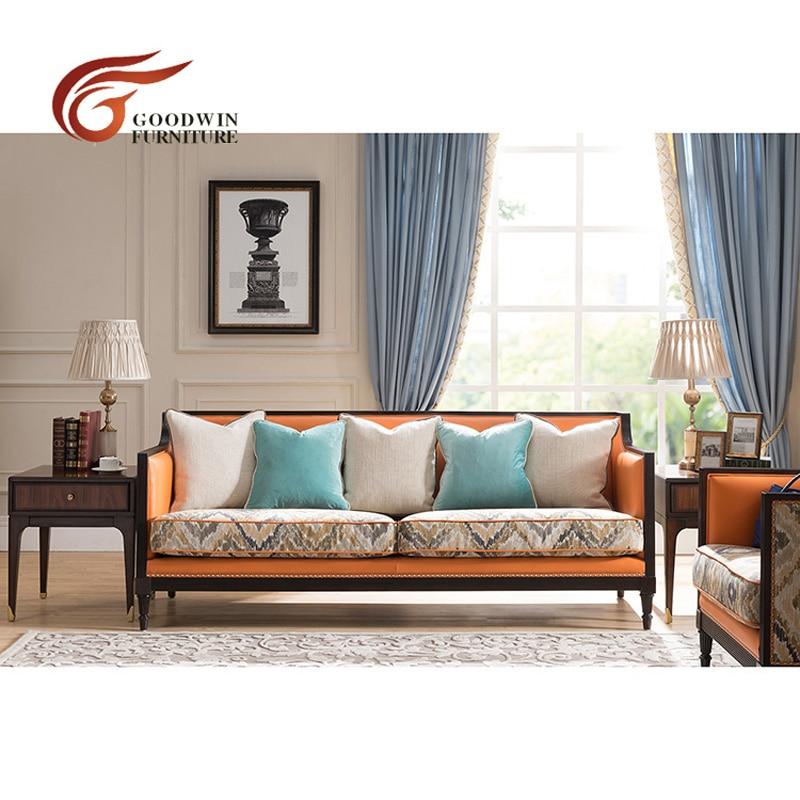 Liriodendron meubles en bois salon canapé de luxe italien WA371