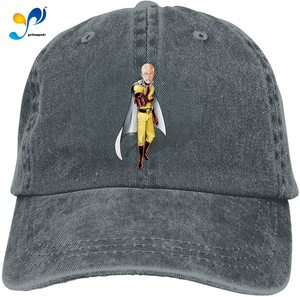 One Punch Man Denim Caps for Mens Womens Baseball Hats Summer Unisex Casquette