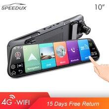 4G 10 Inch Auto Achteruitkijkspiegel Auto Dvr Adas Android Fhd Voor Auto Recorder Gps Navigatie Register Dash Camera achteruitrijcamera
