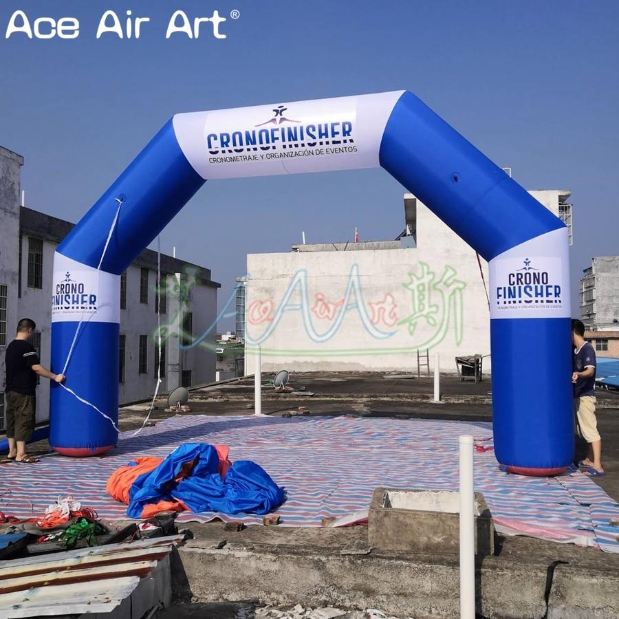 Самый дешевый угол шар в форме арки, надувной билборд арка в синем и белом цвете с логотипом/события по скидке
