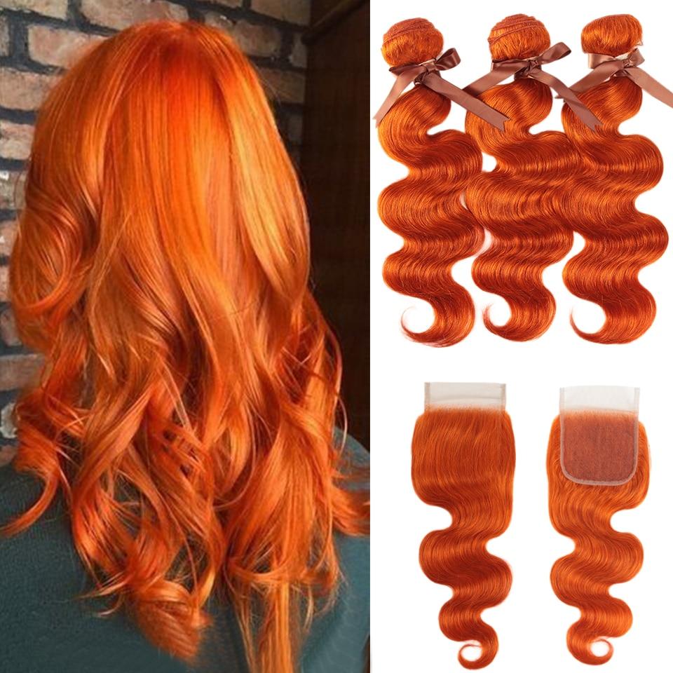 Черные жемчужные оранжевые пряди с застежкой, малазийские волнистые человеческие волосы Remy, волнистые оранжевые пряди с застежкой