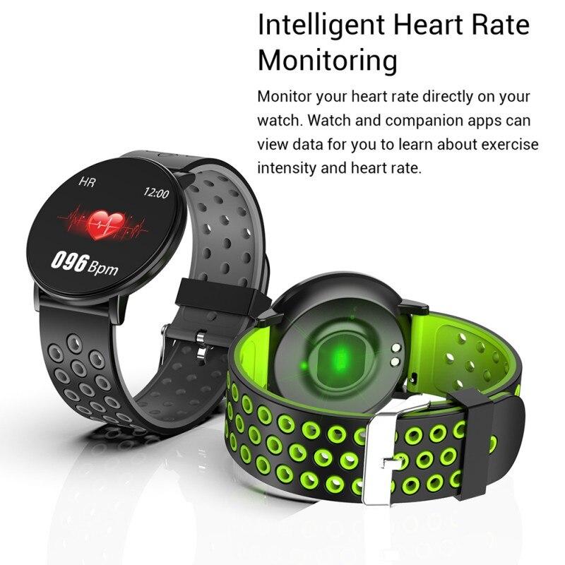 W8 impermeable Lagre pantalla IP67 Fitness Track pulsera inteligente Monitor de ritmo cardíaco Multi deportes modo pulsera