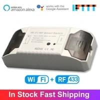 Disjoncteur de commutateur intelligent sans fil  WiFi 10A   RF 433 Tuya  fonctionne avec Alexa Google Assistant Intelligence
