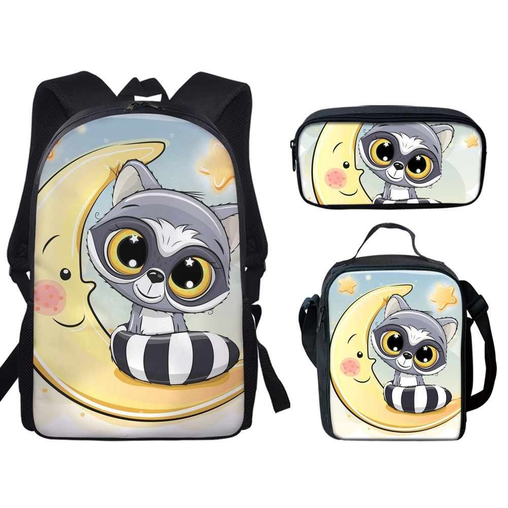 Cartoon Animal Print Kids Satchel School Backpack Children Primary School Bag for Boys Girls Cute Sc