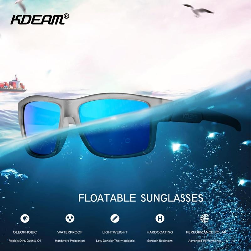 KDEAM-نظارات شمسية رياضية للرجال ، نظارات شمسية مربعة مستقطبة UV400 لركوب الأمواج