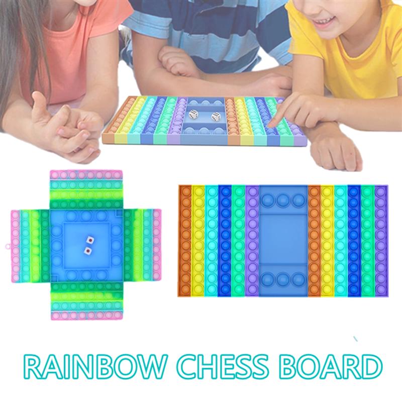 Popite Big Size Board Game Fidget Toys Four-Person Xxl Sensory Push Toys Antistress Kid Children Game Toys For Kids Adult Gift