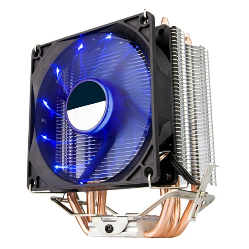 Tubo de cobre doble de 135mm, PC CPU, ventilador enfriador, ventiladores silenciosos eficientes para procesador Intel AMD