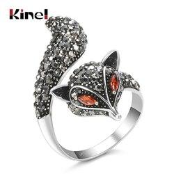 Kinel estilo romântico anéis bonito pouco raposa moda jóias dia dos namorados anel presentes do feriado para a filha festa decoração