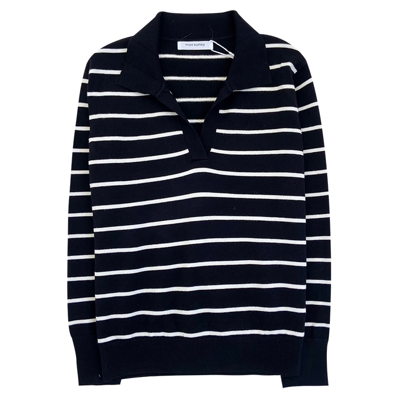 Mooirue Spring Korean Style Women Sweater Polo's Neck Simple Lapel Soft Waxy Slim Fit Autumn Winter Casual Long Sleeve Jumper enlarge