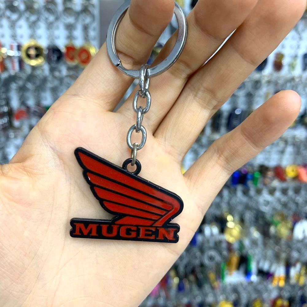 10x Car Keychain Auto Key Chain Key Ring For Honda MUGEN Logo Civic CRV Jazz Odyssey Accord City Hrv Car Styling Accessorie