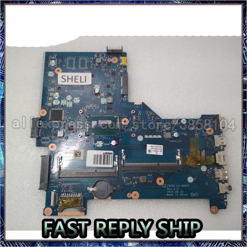 SHELI para HP 15-R 250 G3 Placa base con i5-4210U cpu ZS050 LA-A992P 761535-501, 761535-001