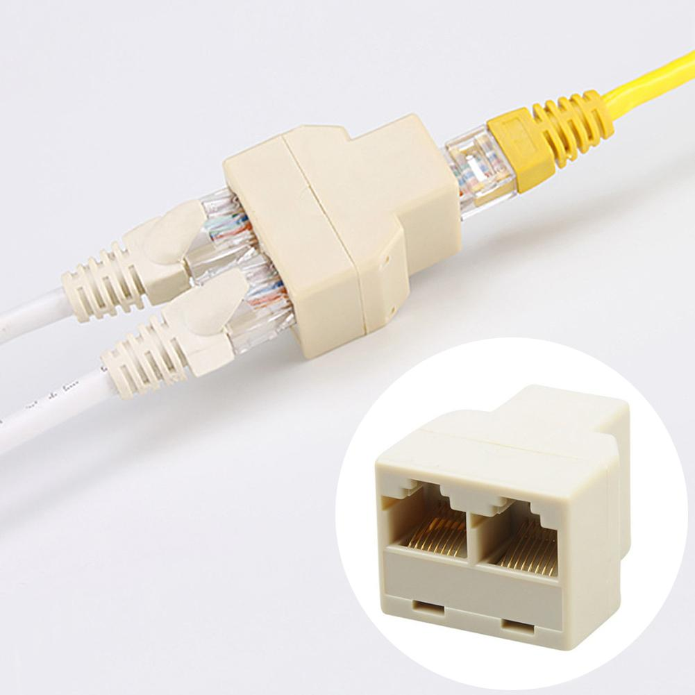 AliExpress - RJ45 Splitter Adapter 1 to 2 Dual Female Port CAT5/6 LAN Ethernet Sockt Network Connections Splitter Adapter P15 Adapter