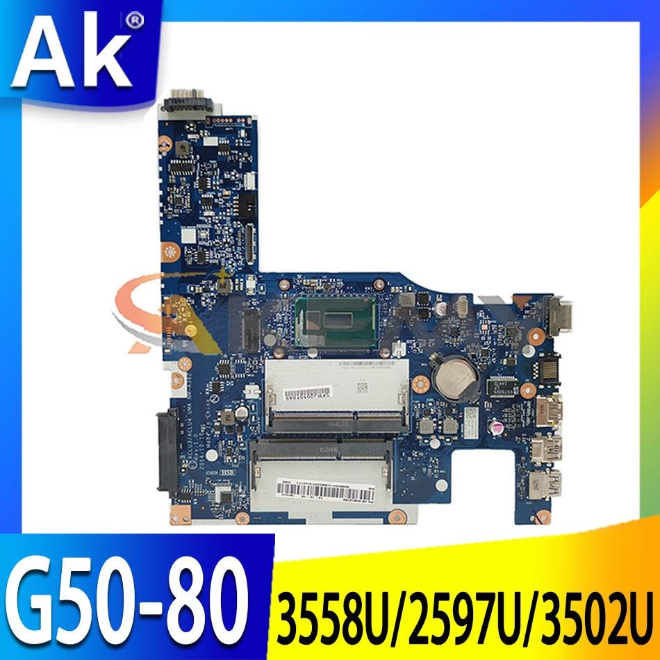 Akemy ACLU3/ACLU4 UMA NM-A362 اللوحة لينوفو G50-80 اللوحة المحمول CPU 3205U/3805U DDR3 100% اختبار