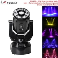 free shipping 60w 89w three in one lamp beads led moving head light wash effect with 3 prism 5 prism double prism