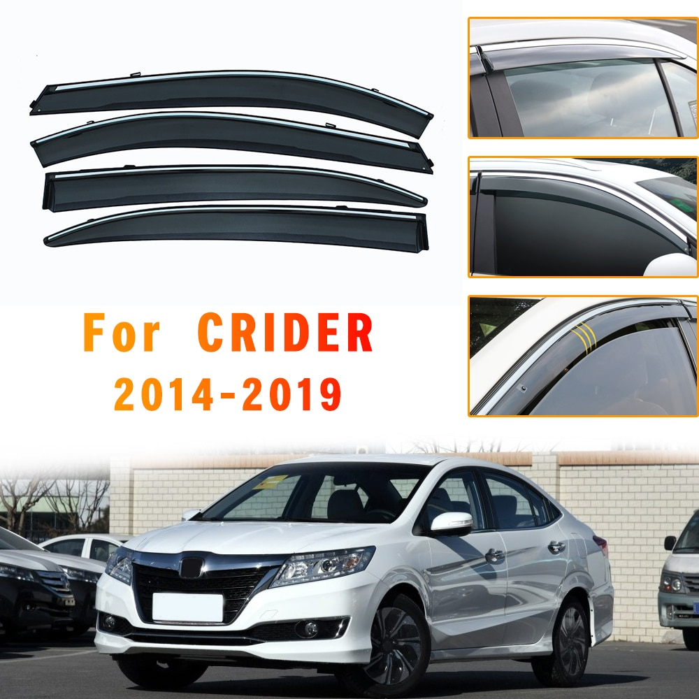 Window Weather Shield For Honda CRIDER 2014 2015 2016 2017 2018 2019 ABS Sun Rain Visor Deflector Guard Car Styling Accessories