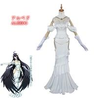 albedo cosplay anime overlord cosplay costume women white dress overlord albedo costume halloween
